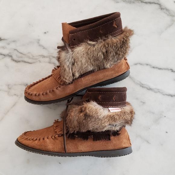 SoftMoc Moccasins Genuine Fur & Leather